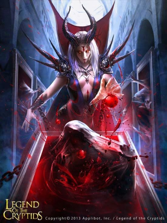 guicaimumu chinese artist illustrations fantasy card games The devil in the mirror
