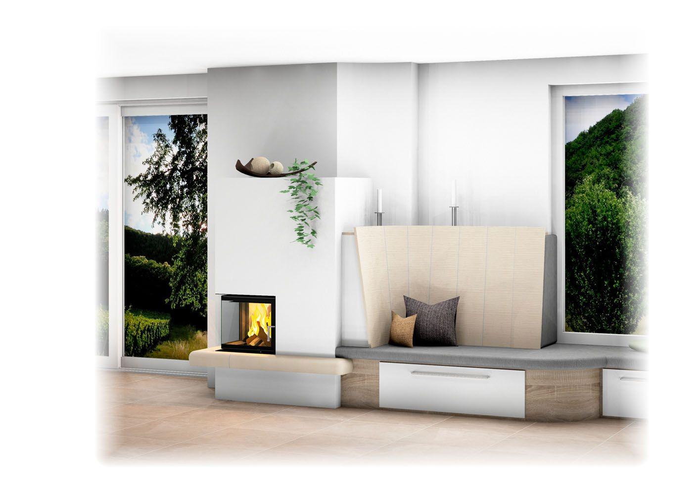 Kleines haus außendesign grundofen mit eckfenster sitzfenster und liege  häuschen in