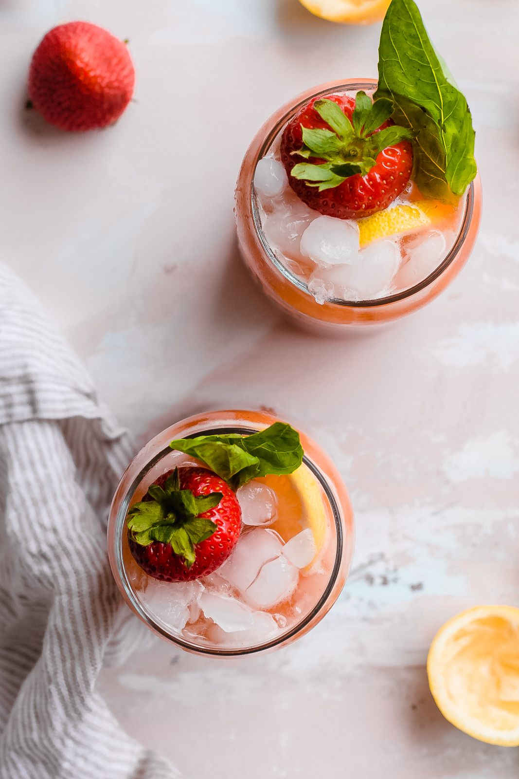 Refreshing Strawberry Basil Lemonade Recipe - Little Spice Jar