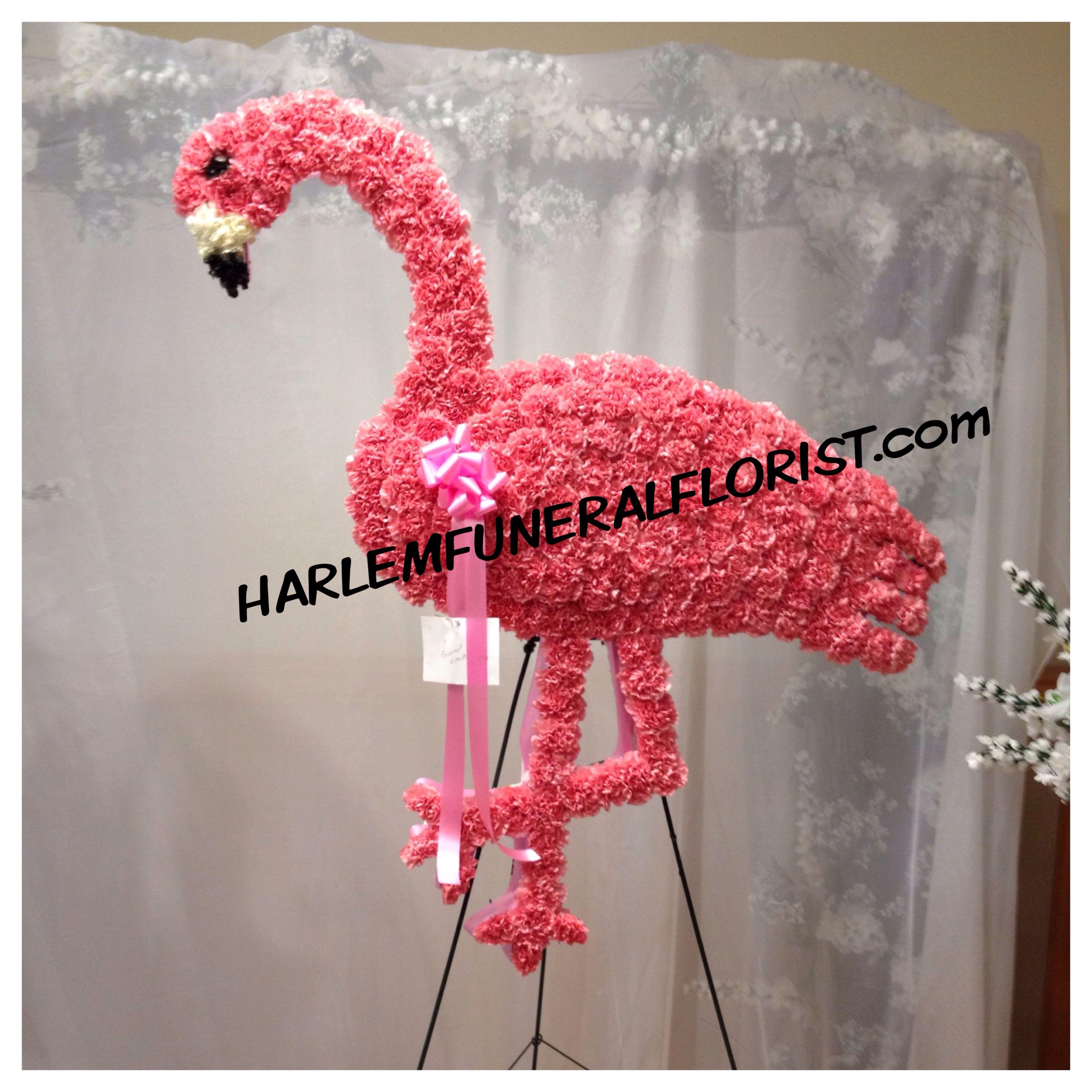 Pink Flamingo Customfuneralflowers Harlemfuneralflorist Funeral Flowers Flower Arrangements Floral Arrangements