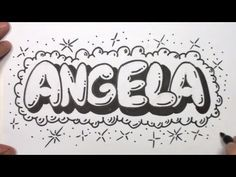How To Draw A Name In Fancy Script Writing Angela