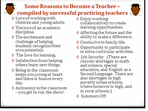 Reasons To Become A Teacher Teaching College Becoming A Teacher Teacher