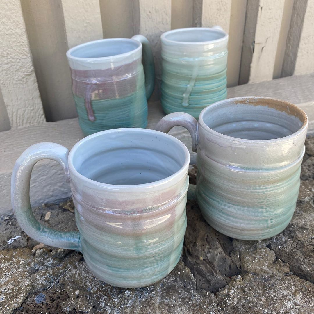 #mugs #kuhnspottery #kilntokitchen #pottery #potter #clay #ceramics #highfire #wheelthrown #handmade #stoneware #artist #craft #hawaii #madeinhawaii #hawaiiart #functional #lethawaiihappen #luckylivehi #hilife #808 #trybuylocal #supportlocal #luckywelivehawaii #custom #aloha