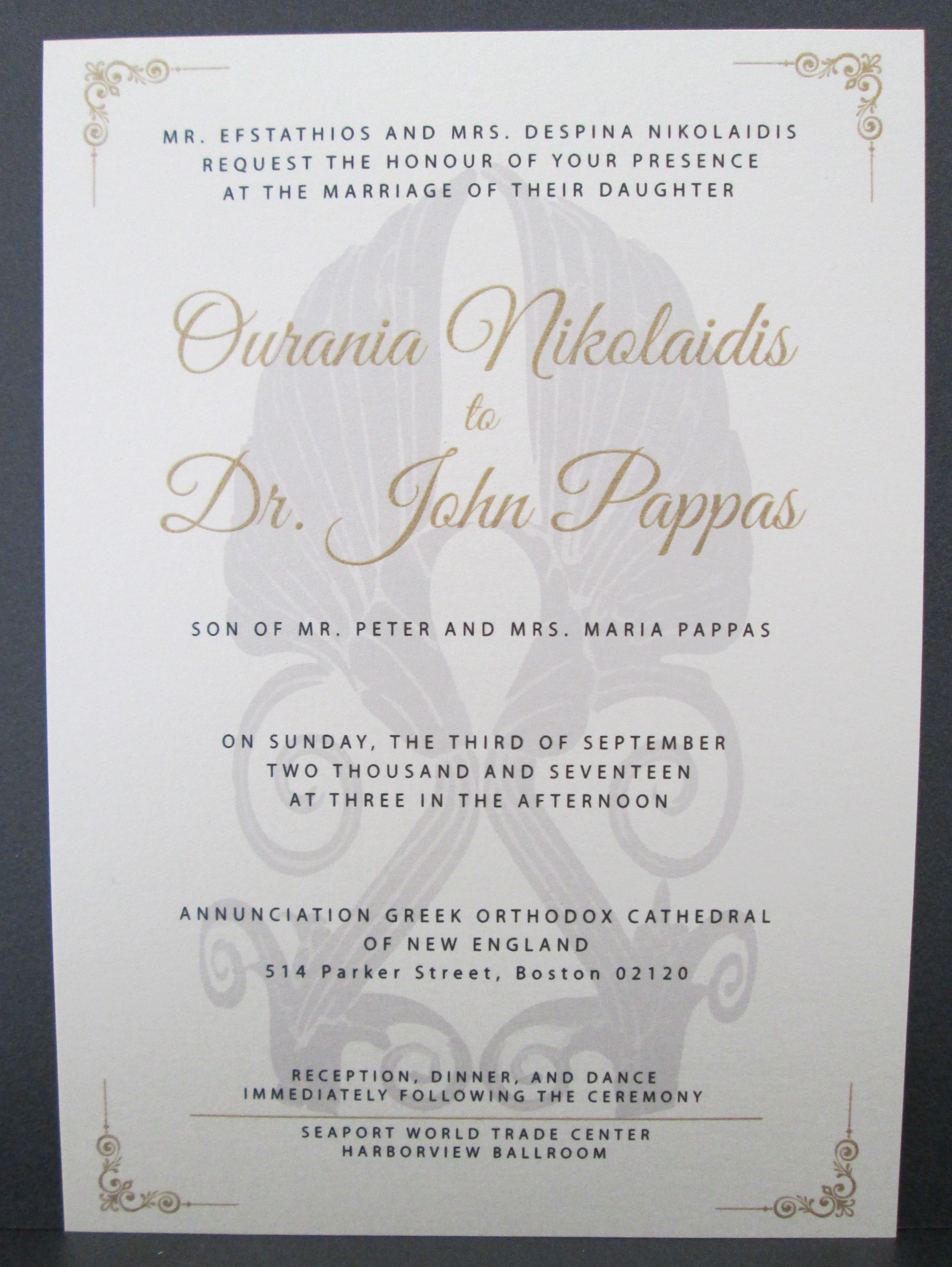 Single layer invitation with thermography printing | Wedding ...