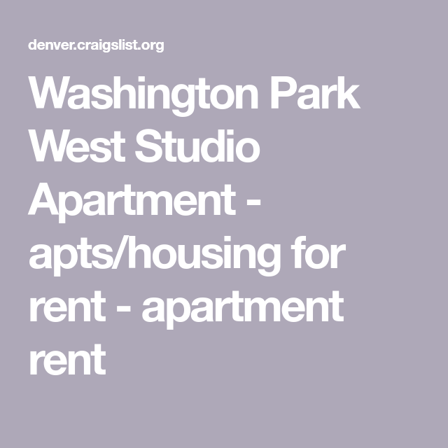 Washington Park West Studio Apartment Studio apartment