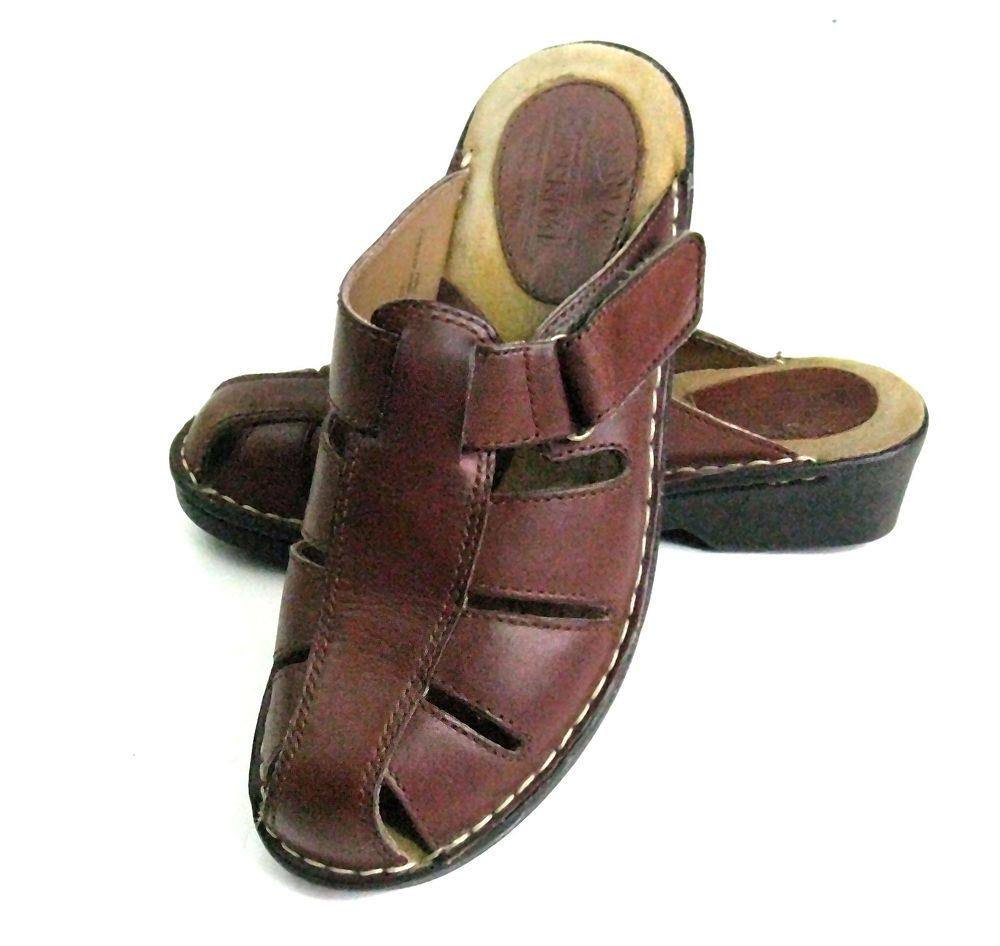 bb8b0261191 Womens BJORNDAL Brown Classic Closed Toe Sandals Slip-on Shoes Size 8M   Bjorndal  TStrap