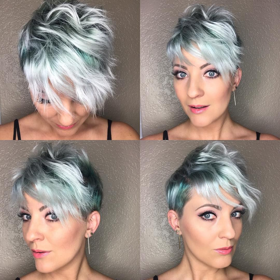 all sizes | disheveled pixie with emerald green and silver