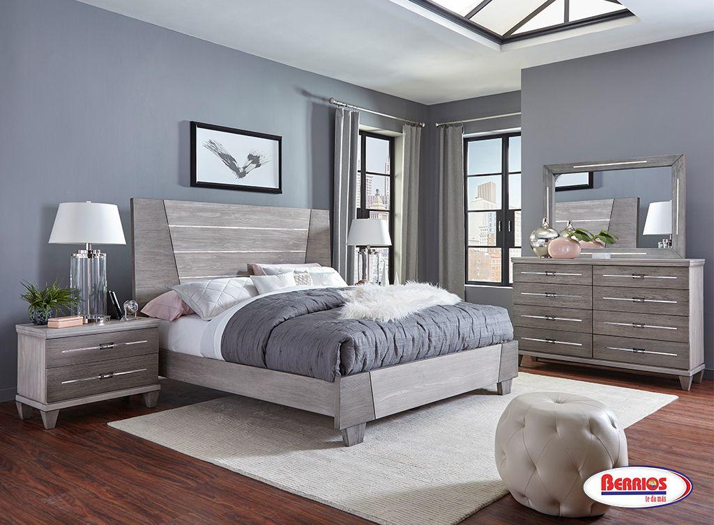 gray wood dresser set