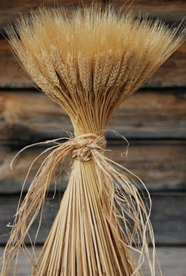 Wheat sheaf to celebrate the end of harvest
