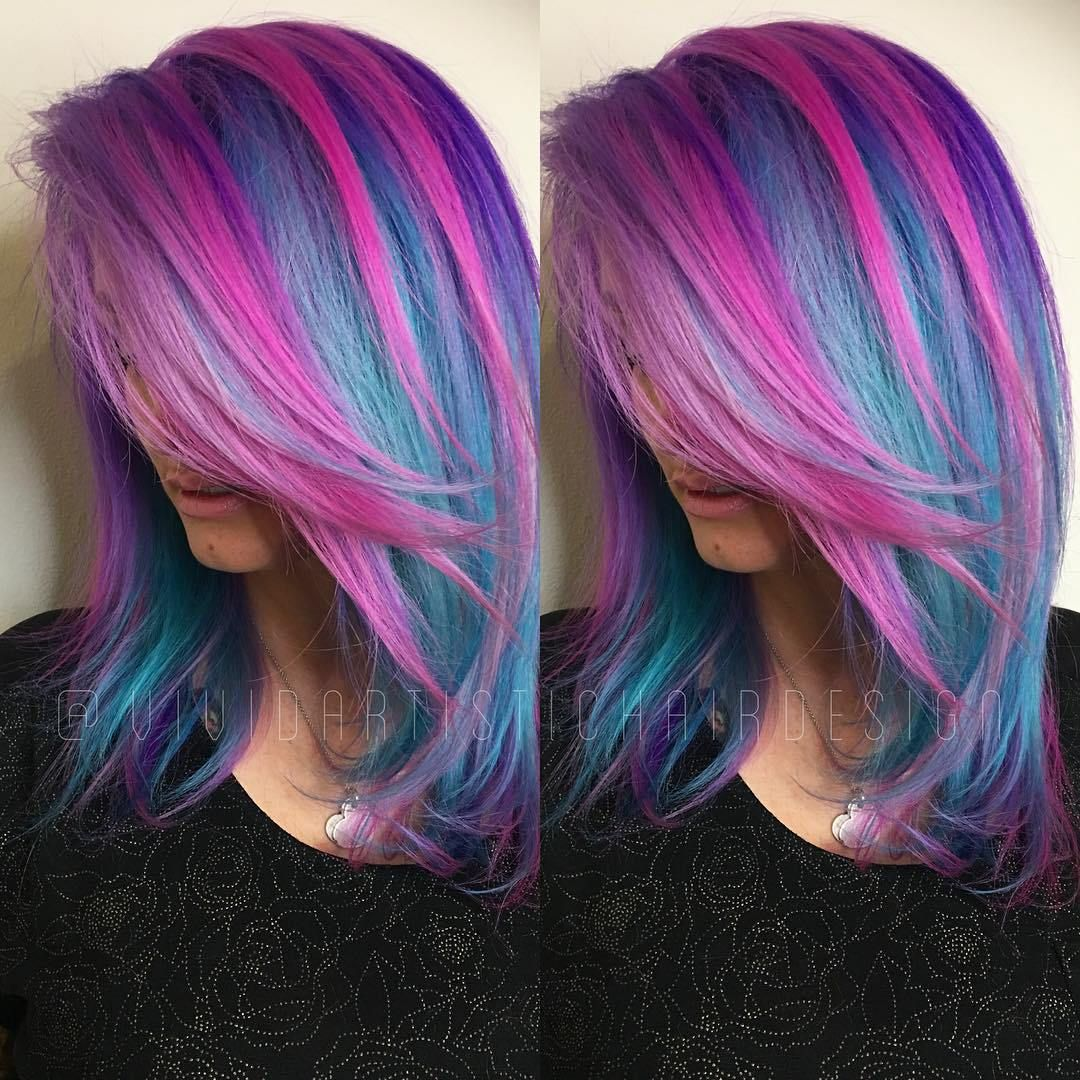 20 Blue And Purple Hair Ideas Hair Color Pink Blue And Pink Hair Mermaid Hair Color