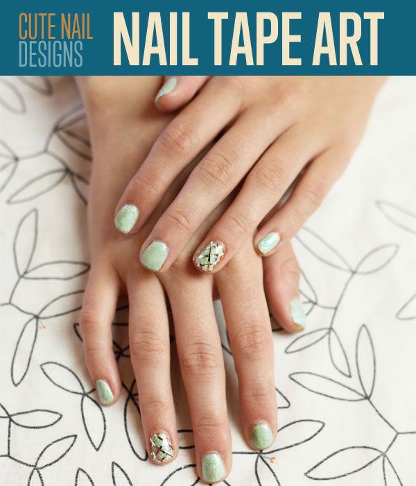 Nail tape art nails diy nail art diy ideas diy crafts do it yourself nail tape art nails diy nail art diy ideas diy crafts do it yourself crafty nail solutioingenieria Image collections