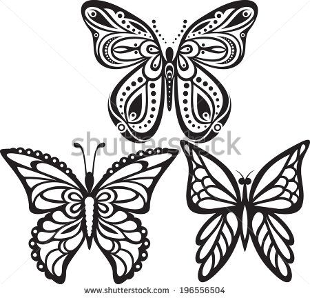 Easy Butterfly Drawings Black And White Images Journaling