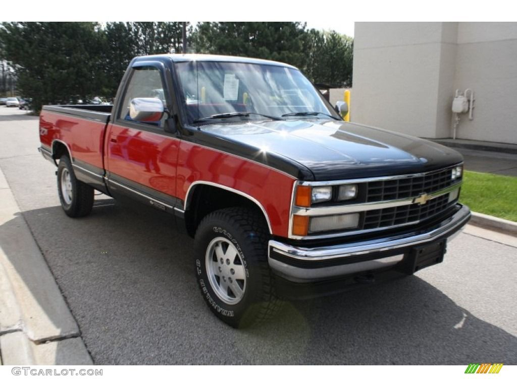 1990 Chevy 4x4 Black Red 1989 Chevrolet C K K1500 Regular Cab 4x4 Onyx Black Color Red Chevrolet 1989 Chevy Silverado Regular Cab