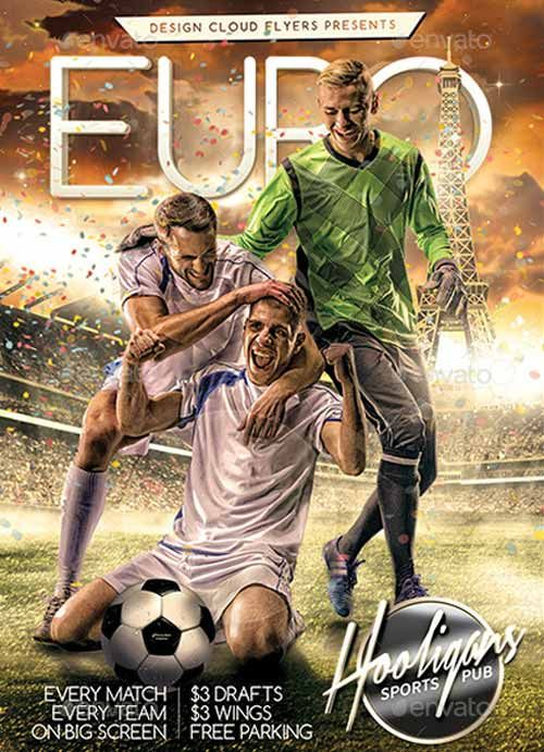 Euro Soccer Flyer Template -    ffflyer euro-soccer-flyer - football flyer template
