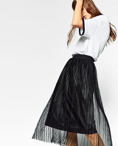 4b451b118 Imagen 4 de FALDA TUL PLISADA de Zara | Vêtements en 2019 | Faldas ...