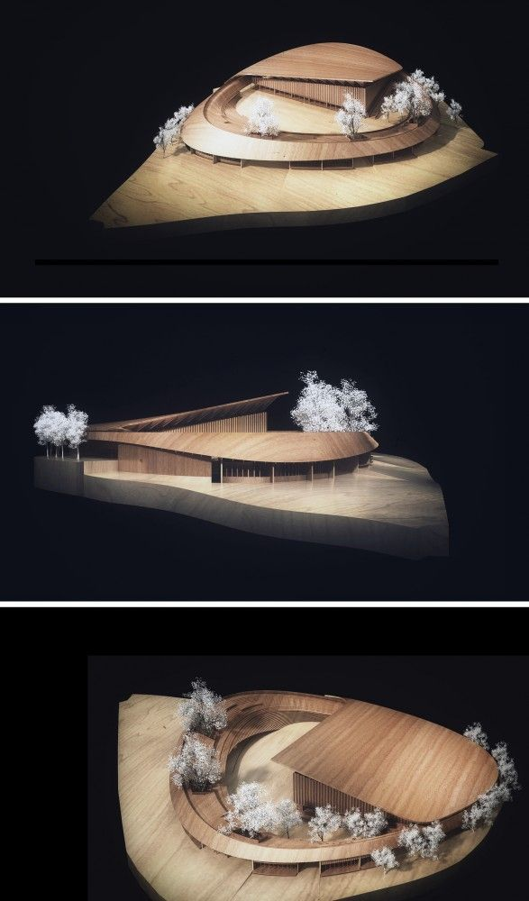 Gallery Of Competition Entry Noa S Proposal For Dalseong Citizen S Gymnasium 14 Architecture Model Concept Architecture Organic Architecture