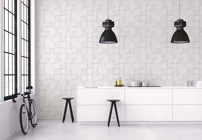 a s cr ation tapete authentic walls grau wei tapeten pinterest tapeten steinoptik und grau. Black Bedroom Furniture Sets. Home Design Ideas