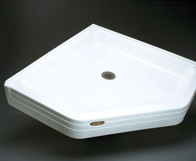 Jacuzzi T358 38 X 38 Neo Angle Shower Base White Showers Shower
