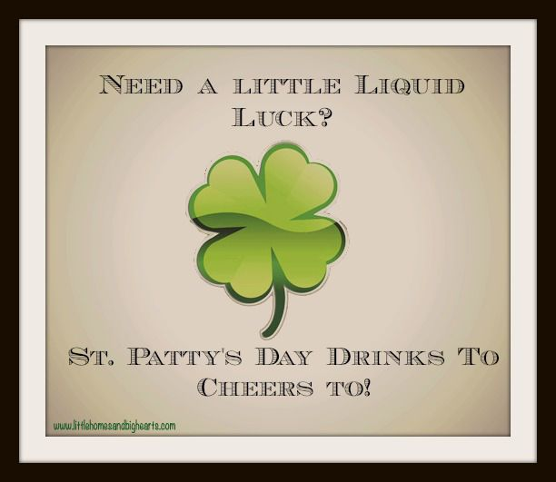 Best St. Patrick's Day Drink Ideas! Love these! Pinning now!