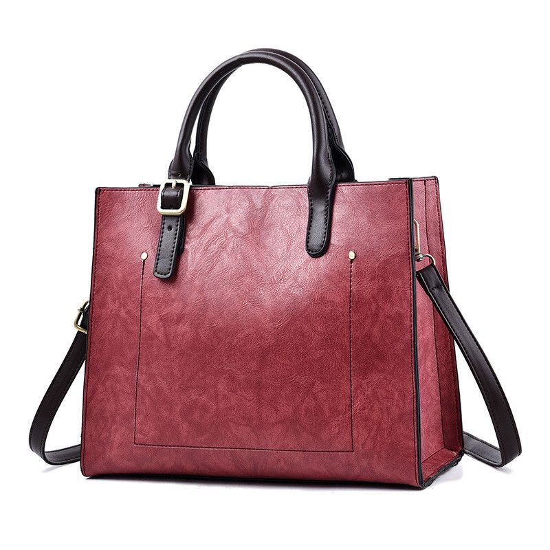 Aliexpress.com   Buy MONNET CAUTHY Casual Tote Concise Fashion Office  Ladies Handbags Solid Color Army Green Yellow Wine Red Grey Black Crossbody  Bag from ... 929439f749588