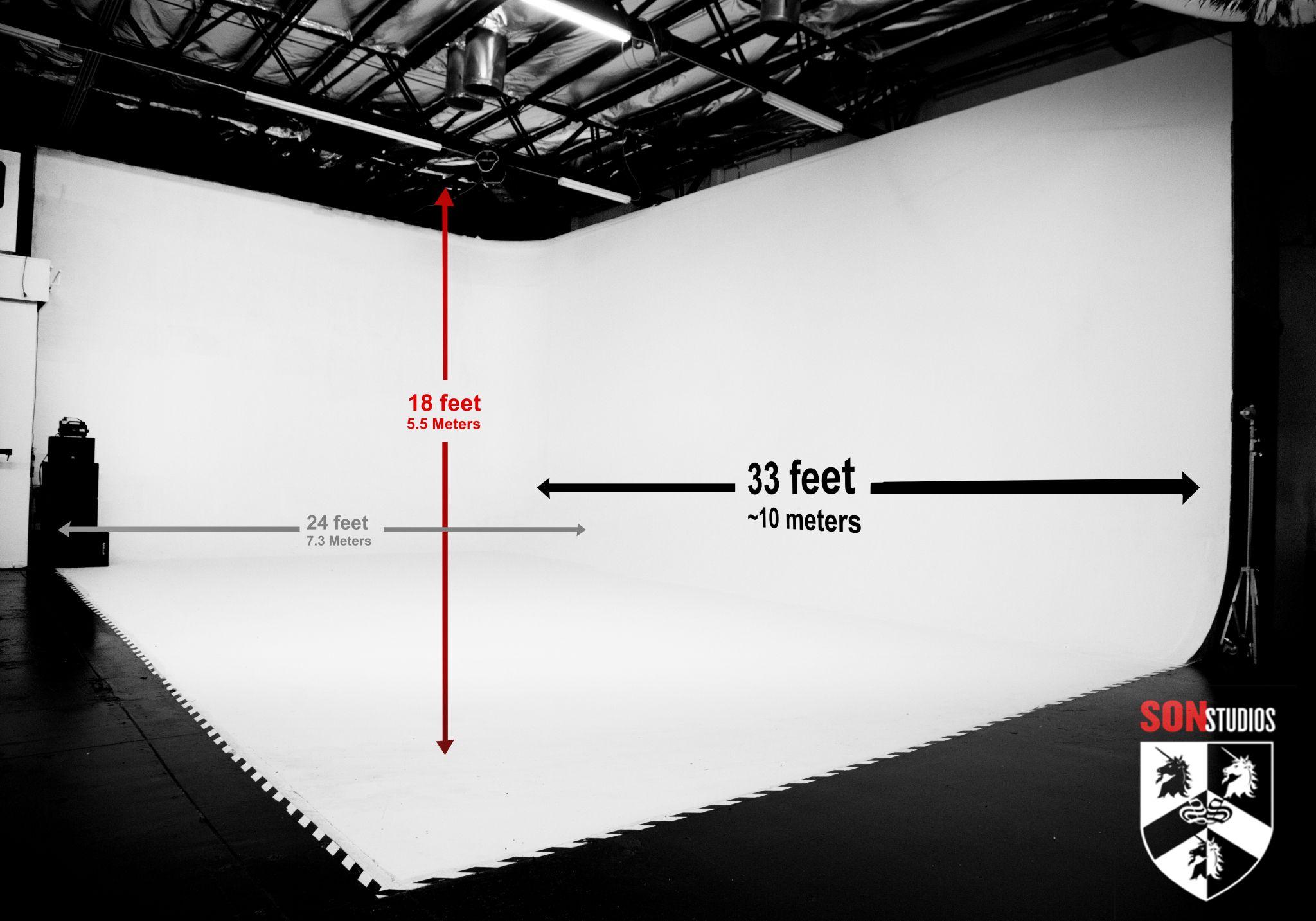 Son Studios Cyclorama Wall Measurements Photo Studio Design Design Studio Office Photography Studio Design