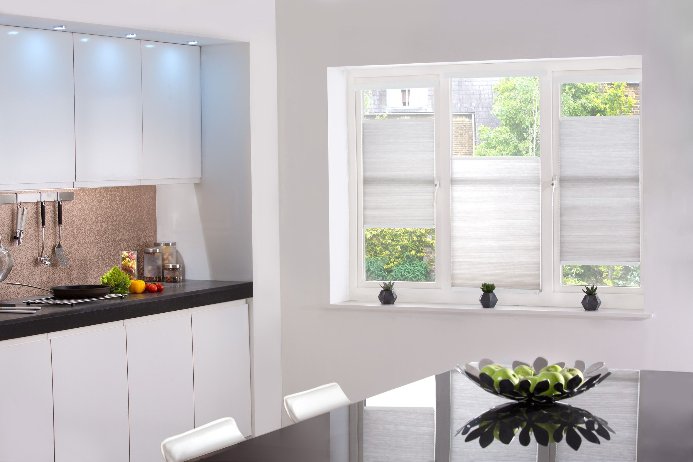 Style Studio Hive Silkweave Blinds In Ash Kitchen Blinds Best
