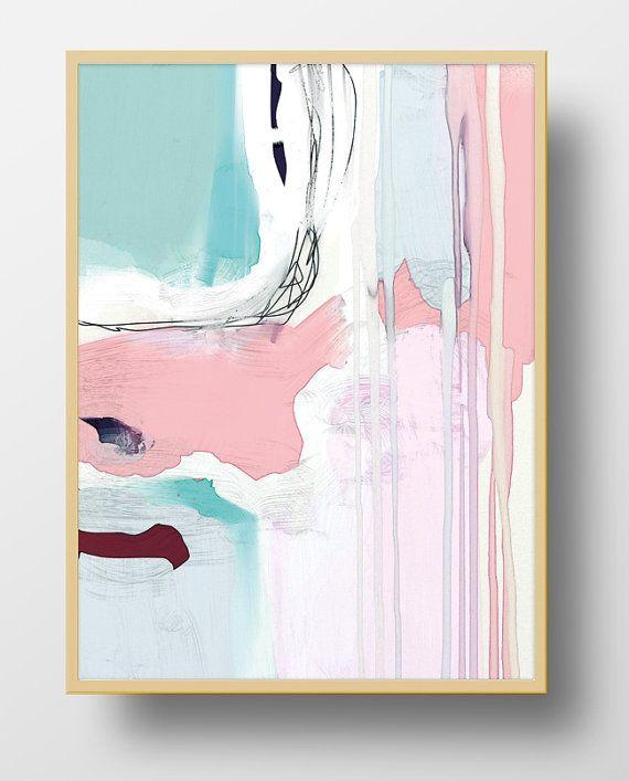 Large Abstract Art Printable Abstract Wall Art 16x20 Print Pink