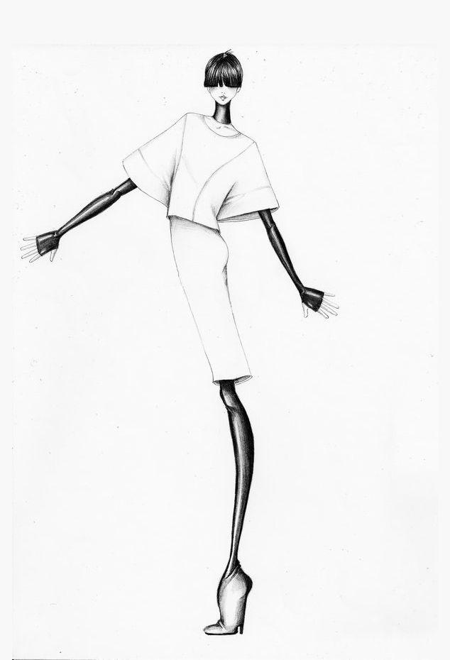 Fashion illustration sketches Blog Bara Dudova Graphic Design - fashion designer templates
