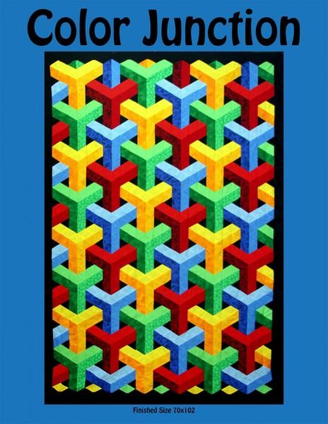 UNBEWEAVABLE X-treme X-Blocks Quilt Pattern NEW Makes Quilts 4 Sizes Rainbow