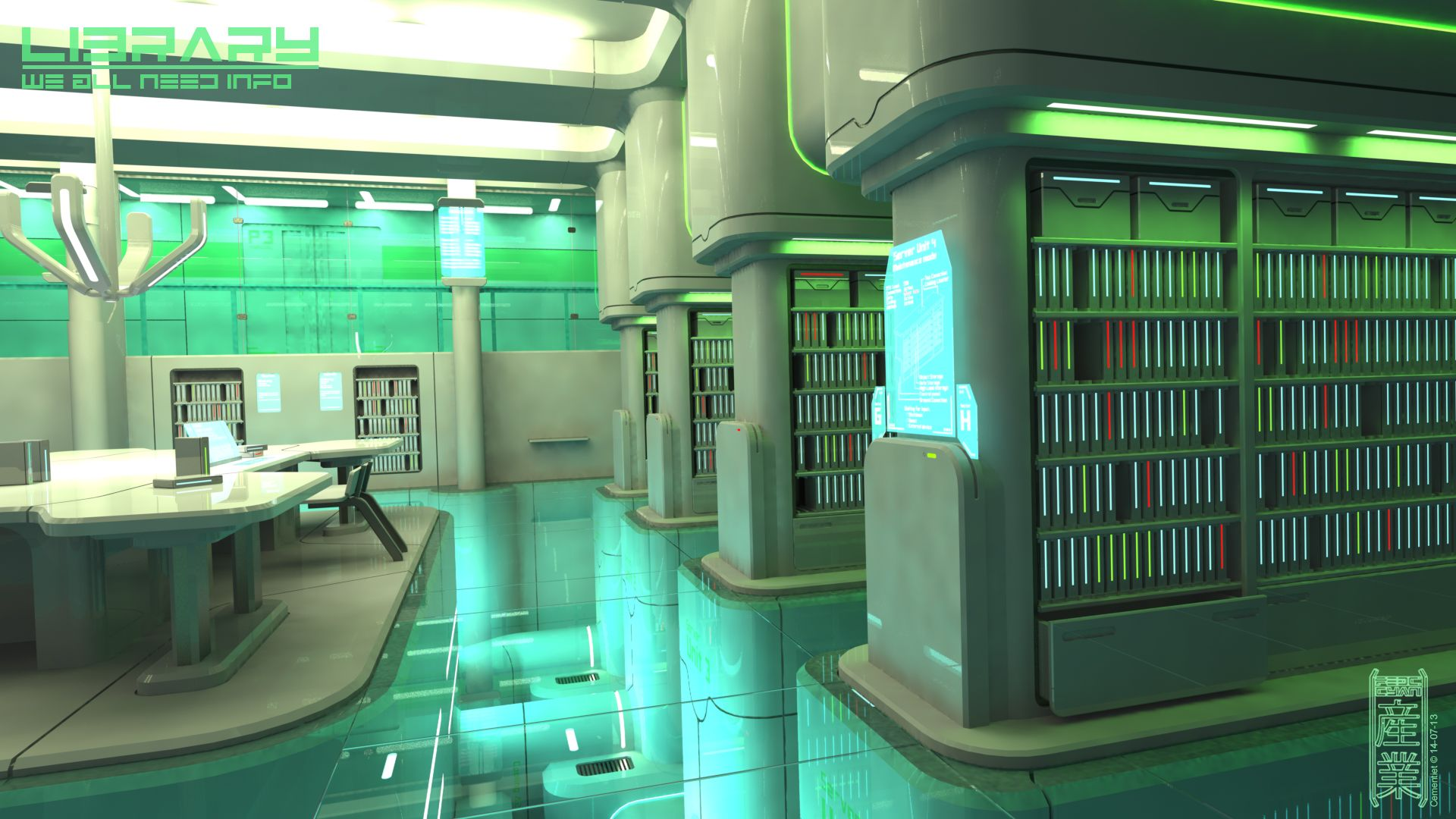 this is the related images of Futuristic Library