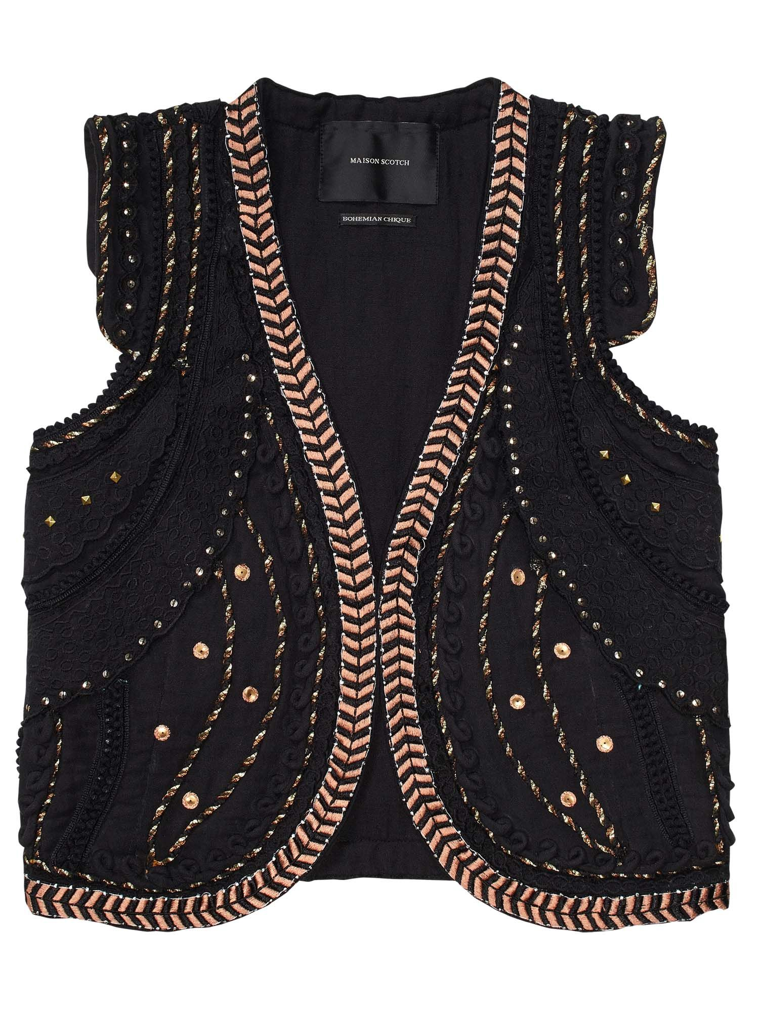 f3812b1095 Circus Inspired Gilet With Special Embroideries | Embroidery | Denim ...