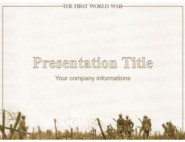 The first world war free military powerpoint template powerpoint the first world war free military powerpoint template toneelgroepblik Gallery
