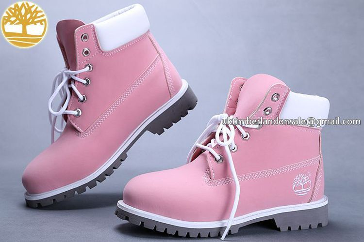 ab171a1ff4 UK Timberland Girls 6 Inch Baby-Pink Premium Boots with White £ 60.79