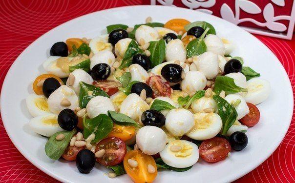Самые вкусные рецепты: Средиземноморский салат с перепелиными яйцами