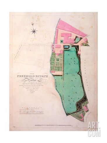 Plan of the Stag Brewhouse Premises and Estate, Original Manuscript Drawing from the Offices of… Giclee Print at Art.com
