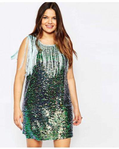 75405ae345f Green sequins tank dress for women fringe long tank tops