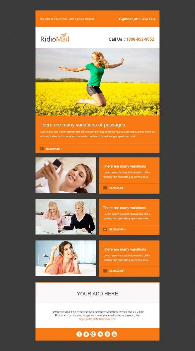 20 Best Premium Responsive Email Templates | Email | Pinterest
