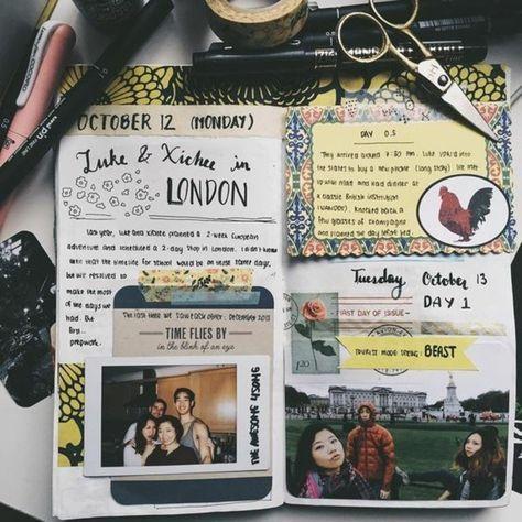 Comment faire un carnet de voyage? Idées inspirantes en 60 photos #scrapbook
