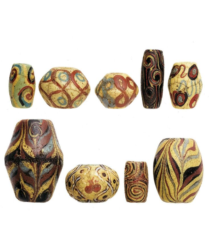 Remarkable collection of Bodom beads from ghana, all dating to the late 19th…