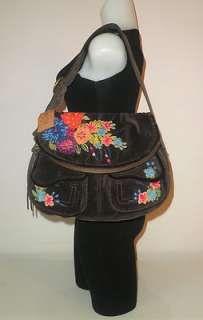 Lucky Brand Handbags | Lucky Brand Handbag Multi Color Patchwork Large Hobo Bag Purse Italian