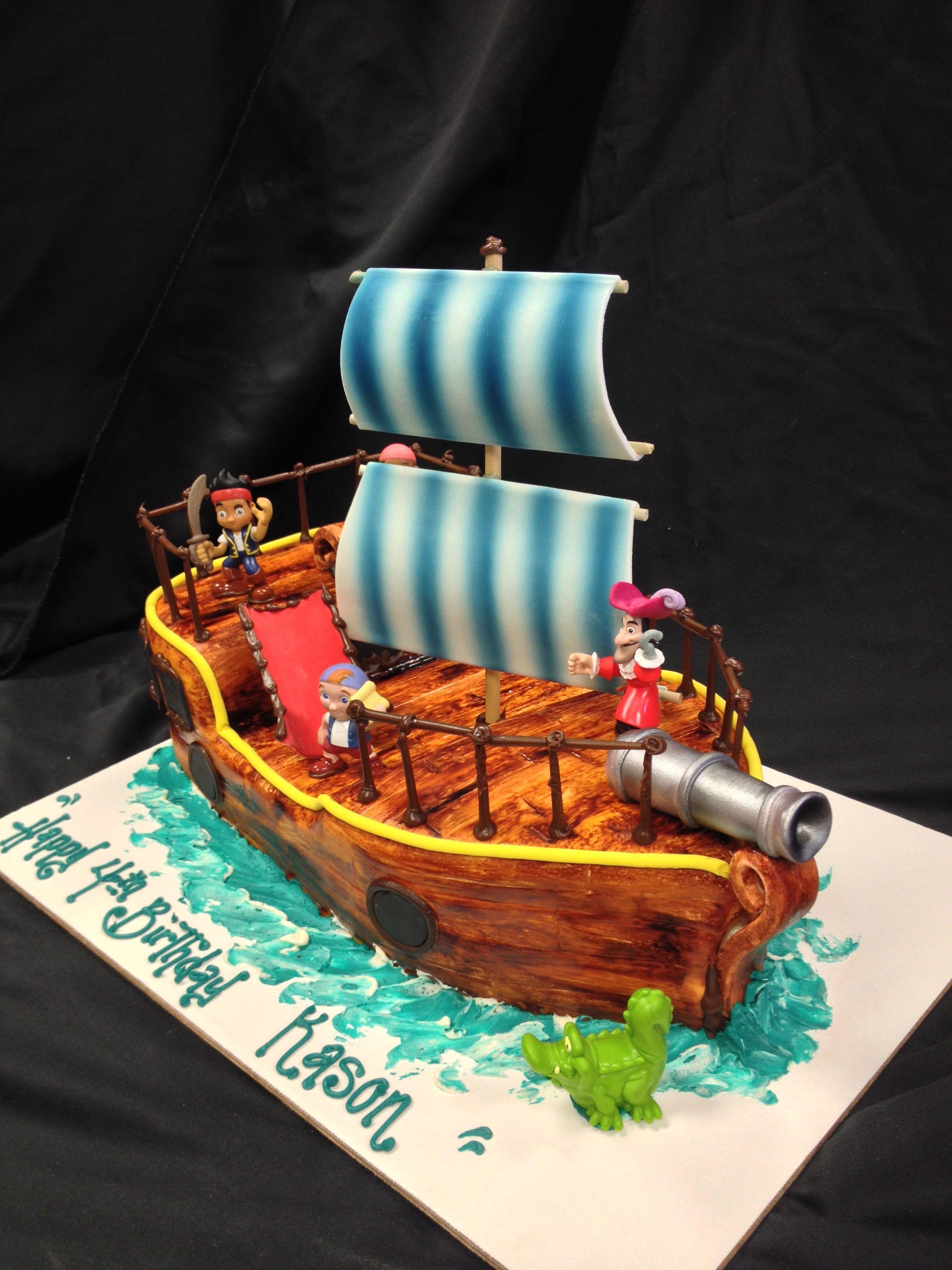 Jake and the neverland pirate ship cake birthday cake