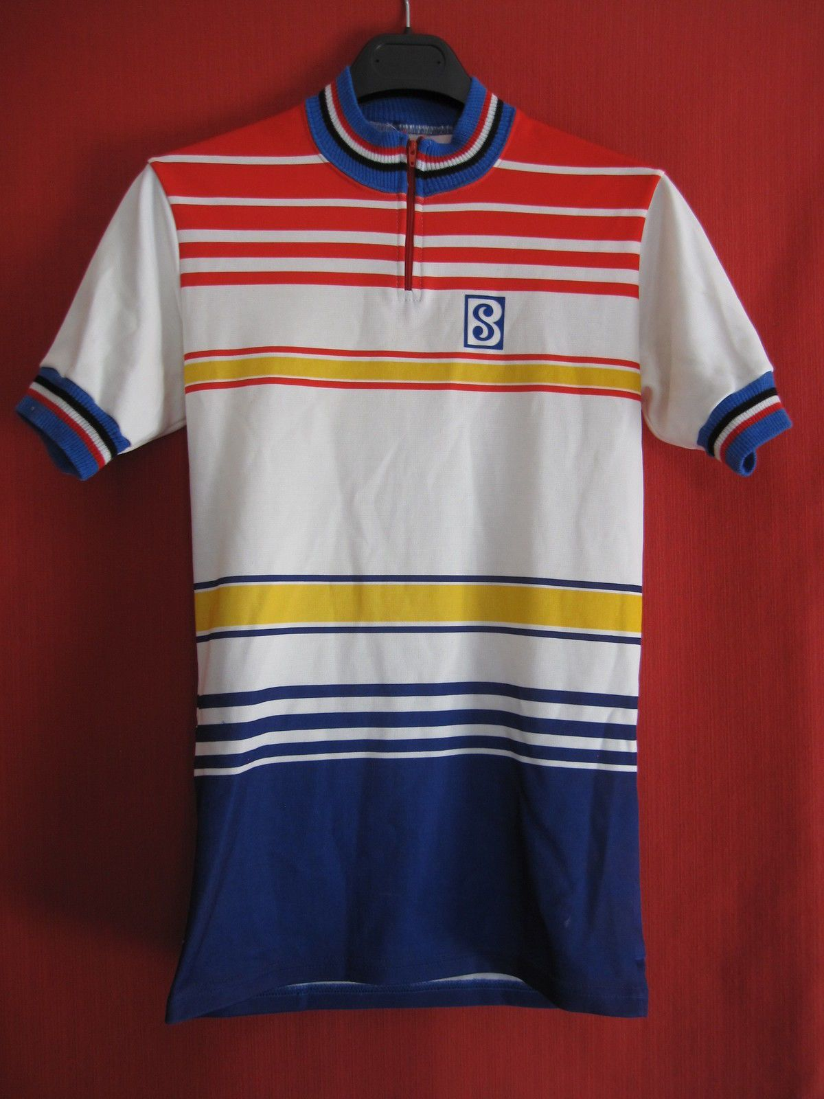 Maillot Cycliste Cycles Sibille Vintage 70 S Vélo BE M  bf03cd7ce