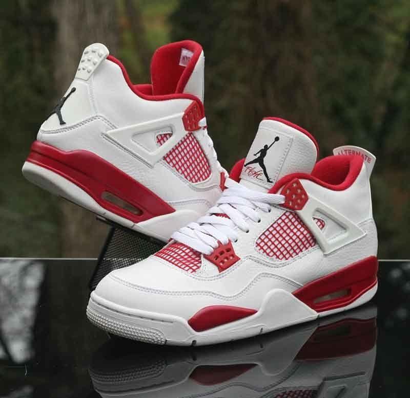 987887513772 Nike Air Jordan 4 Retro Alternate 89 White Black Gym Red 308497-106 Size  9.5  Nike  BasketballShoes