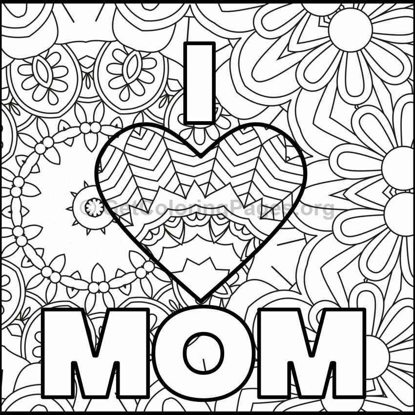 Mother's Day Coloring Pages 7