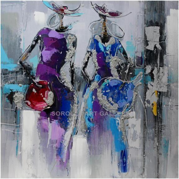 Gran avenida Técnica: Mixta sobre lienzo Medidas (cm): 60x60 Medidas ...