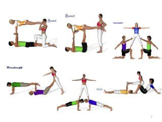 figuras acrosport y seguridad  3 person yoga poses yoga