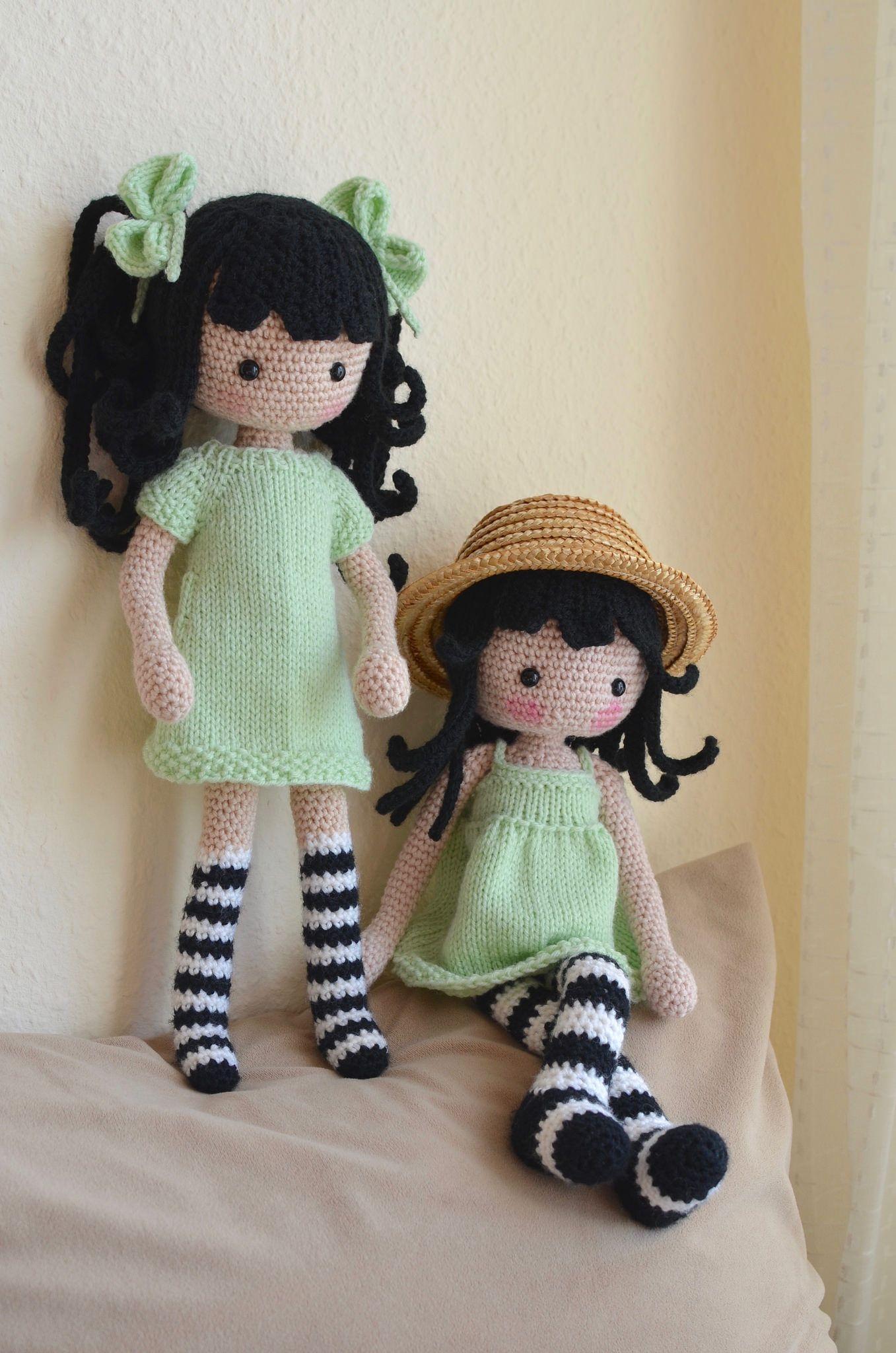 Knit Amigurumi Doll Pattern : Sisters amigurumi summer and dolls