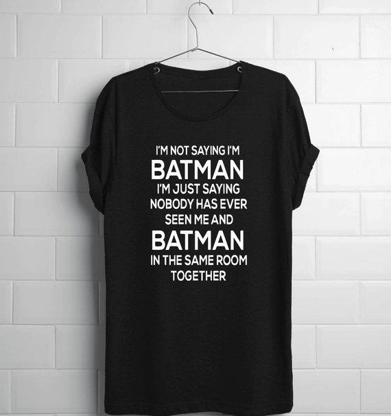 Batman Shirt Batman Dad Batman Adult Batman Husband Batman