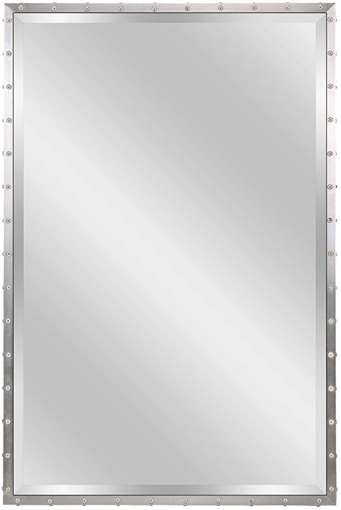 Pin On Mirrors, 24 X 36 Brushed Nickel Vanity Mirror