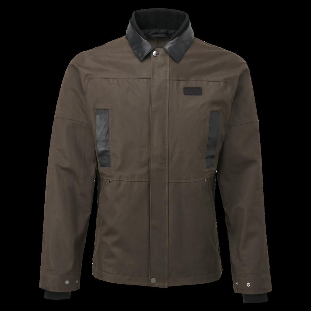KNOX Leonard Wax Waterproof Jacket for Men - Brown The Leonard waterproof wax cotton outer jacket from the Knox Studio...